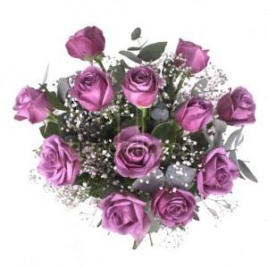 Bouquet de rosas moradas