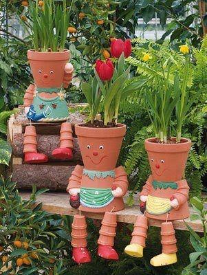 Macetas divertidas y originales para nuestras plantas for Adornos para jardin