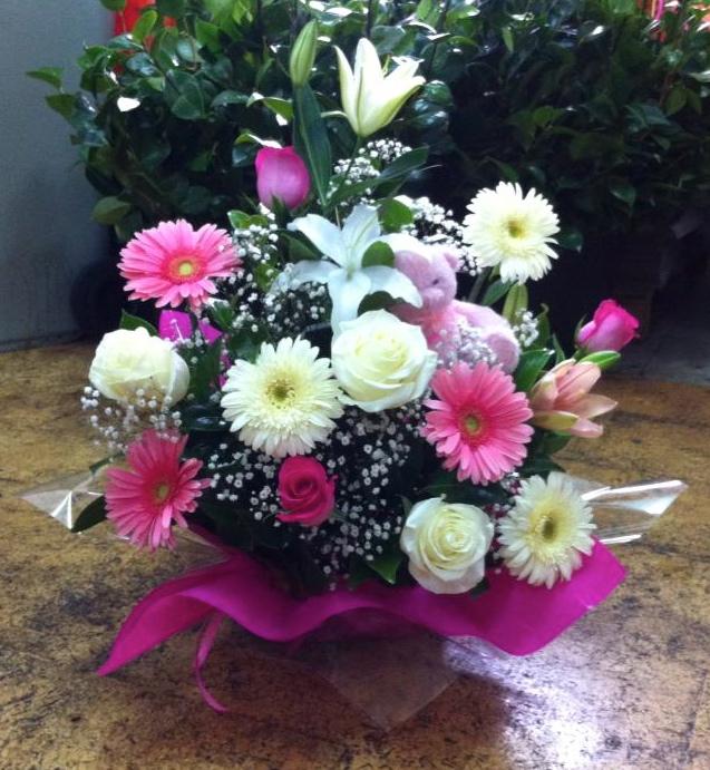 baby basket cesta floral para recin nacidos