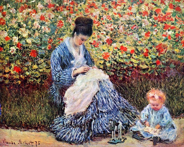 Madame Monet and Child, Monet 1975