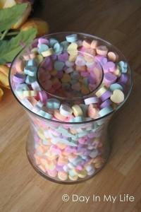 jarron relleno de caramelos
