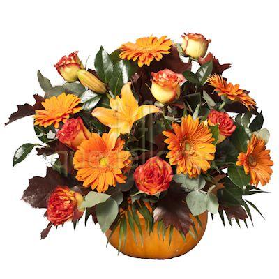 calabaza con flores