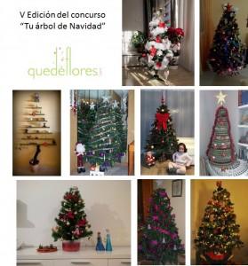Collage V edicion concurso tu arbol de navidad