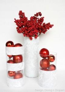 con bolas de navidad