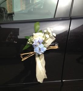 decoracion floral coche