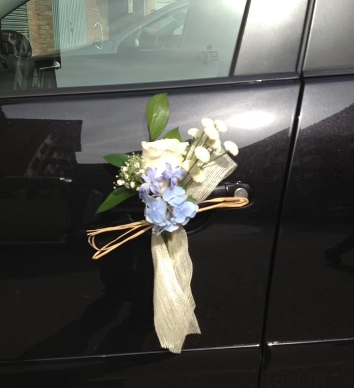 La decoraci n floral de la boda de elena y jorge - Decoracion coche novia ...