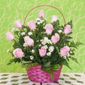 cestas rosas rosas