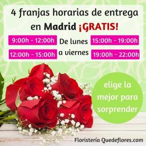 4 franjas horarias de entrega en Madrid
