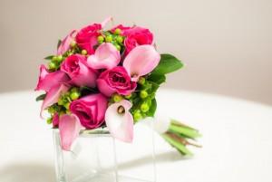 Ramo de novia rosa
