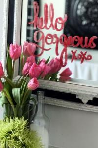 mensaje con flores