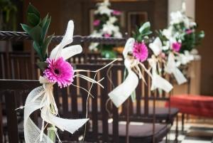 decoración flores boda