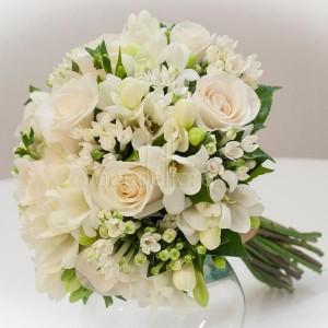 fresia blanca ramo novia