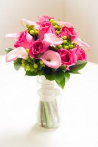 ramo de novia rosas y calas