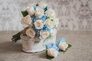 ramo de novia hortensias
