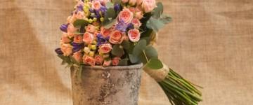 ramo de novia rosas ramificadas