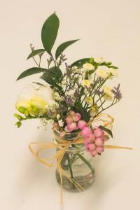 bote con flores