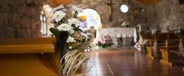 flores bancos boda