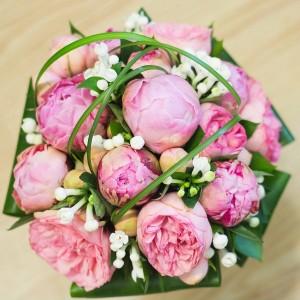 bouquet novia peonias