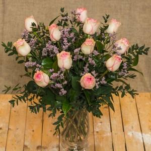 12 rosas rosas