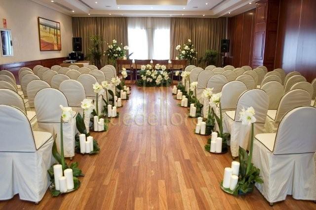 Decoracion iglesia boda velas - Decoracion bodas baratas ...