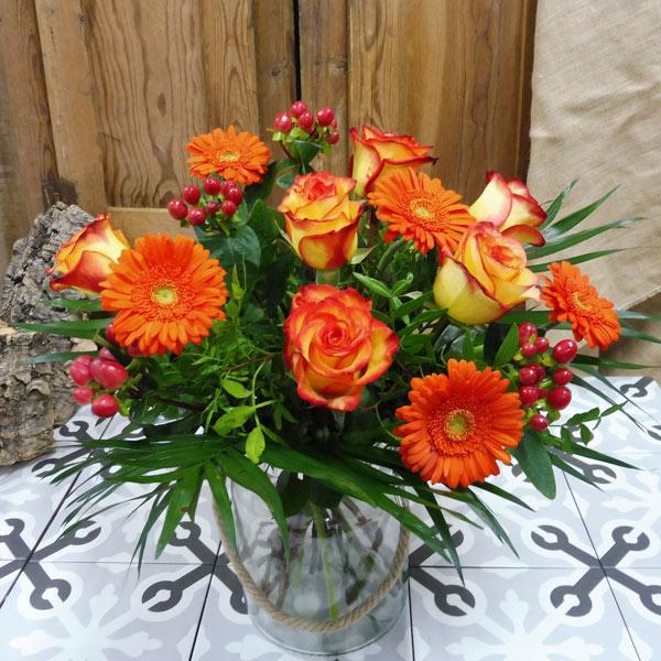Ramo de otoño naranja