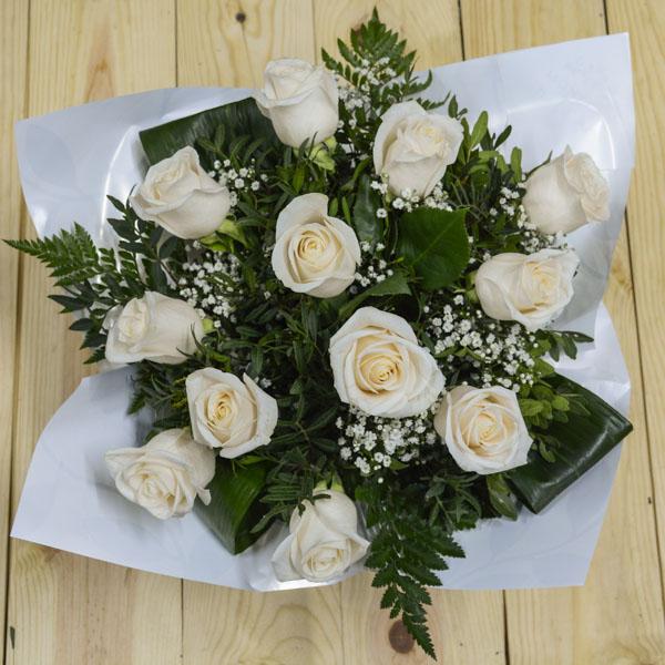 Ramo Burbuja Rosas Blancas