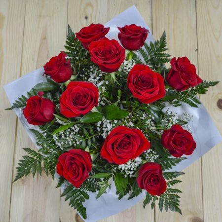 Ramo Burbuja Rosas Rojas