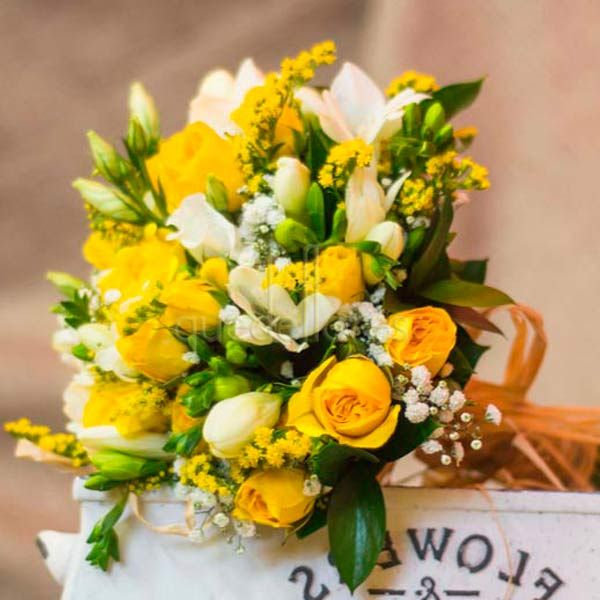 Ramo de novia Yellow and white