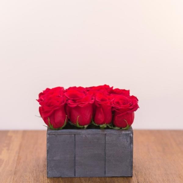 Cajón 16 Rosas Rojas