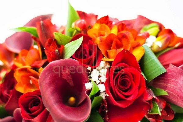 Ramo de novia Cascada Rojo