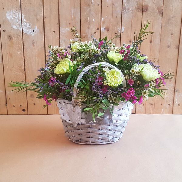 Capazo de Flores Vintage