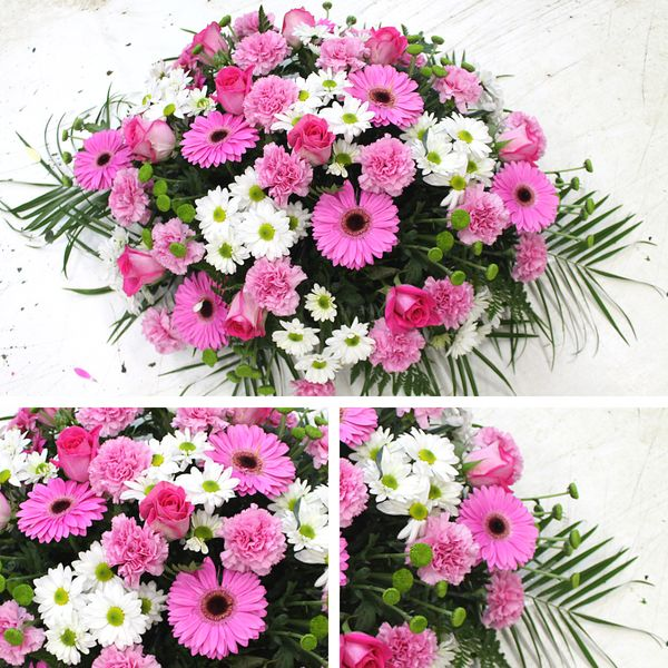 Centro de flores variadas rosas