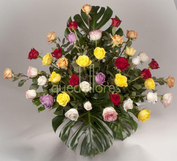 Centro 36 rosas variadas