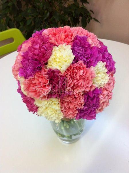 Bouquet de novia Claveles