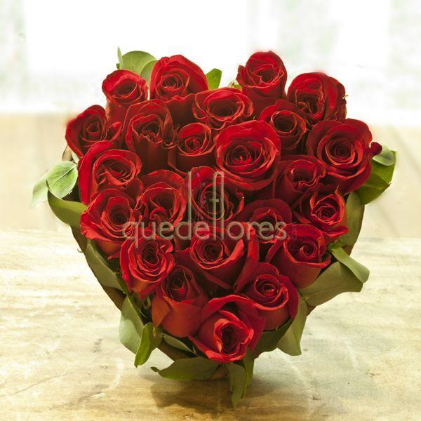 Corazón 25 Rosas Rojas