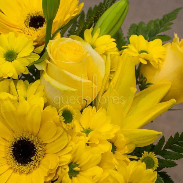 Cubito QDF de flores amarillas