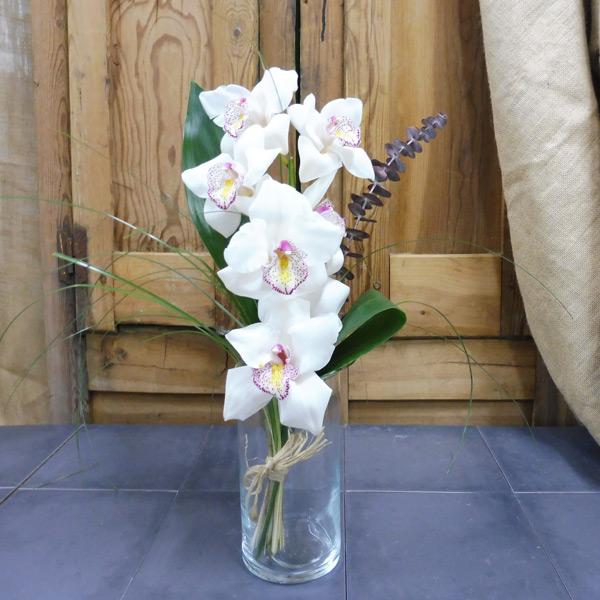 Orquídea Cymbidium Blanco
