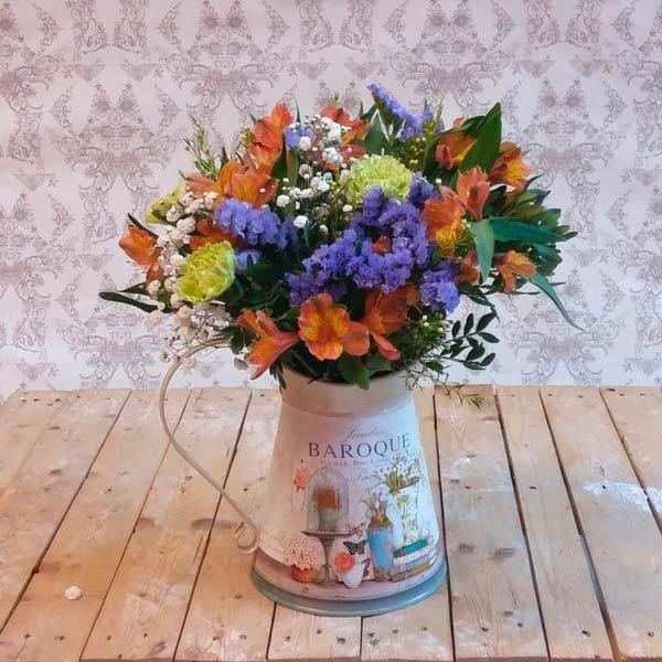 Jarra con flores