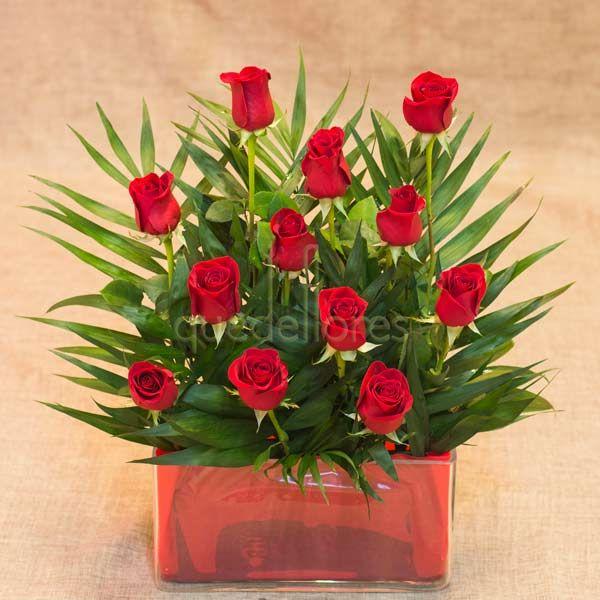 Jardinera de Rosas Rojas