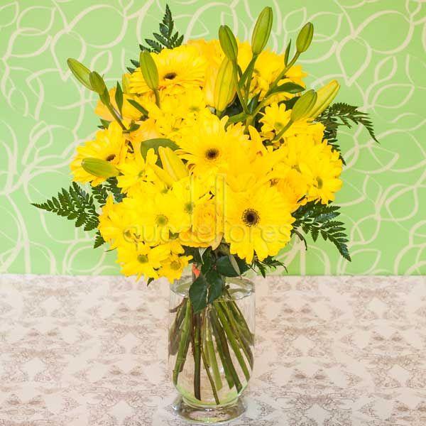 Jarrón de flores Primavera Amarilla