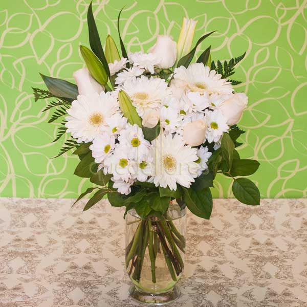 Jarrón de flores Primavera Blanca