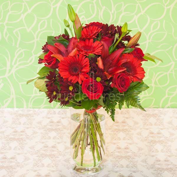Jarrón de flores Primavera Roja