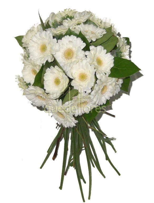 Bouquet de gerberas blancas