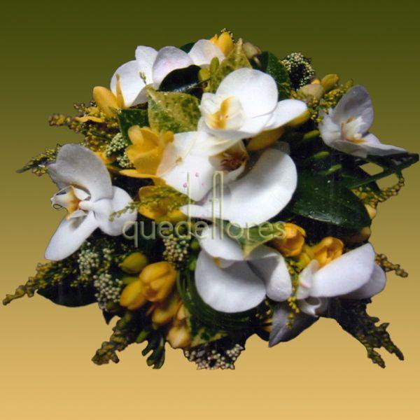 Bouquet de orquídeas y fressias