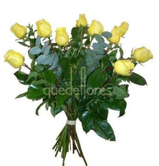 Ramo Clasico de rosas amarillas.