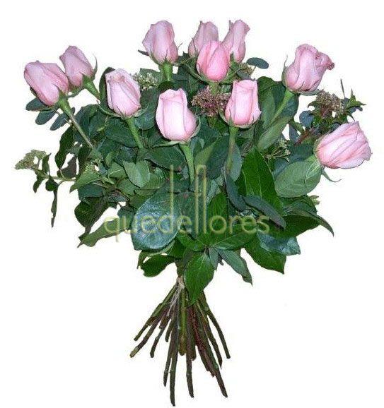 Ramo Clasico de rosas de color rosa claro