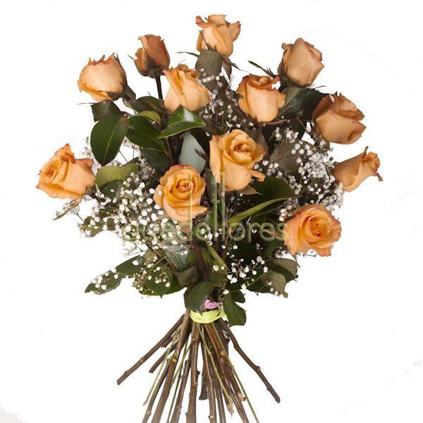 Bouquet de rosas naranjas