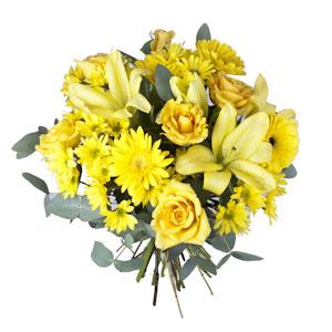 Ramo QDF flores variadas amarillas