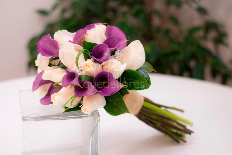 Ramo de novia rosas y calas - Ramos de calas para novias ...